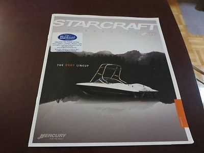 2007 Starcraft Runabout Boat Sales Brochure Catalog Limited 1800 1700 1910 +