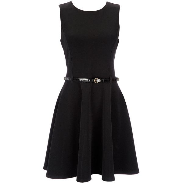Black Petite Belted Dress ($26) ❤ liked on Polyvore featuring dresses, vestidos, short dresses, black, petite, belt dress, wallis dresses, petite dresses, mini dress and petite cocktail dress