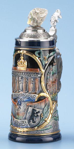 BERLIN STEIN, COBALT GOLD - Authentic Beer Steins from Germany - 1001BeerSteins.com