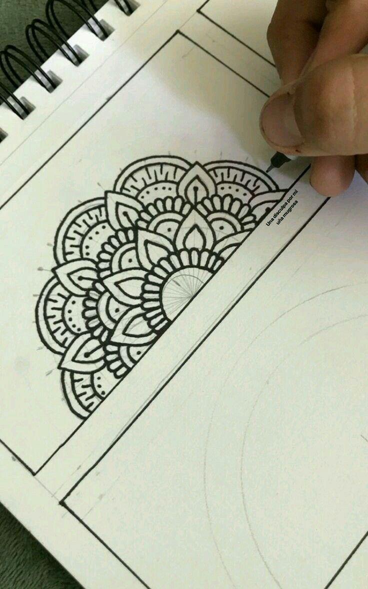 Pin By Kardelen Incee On Ozel Mandala Art Lesson Easy Mandala Drawing Mandala Design Art