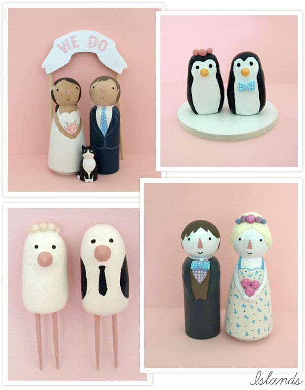 SUPER cute cake toppers from Islands on Etsy