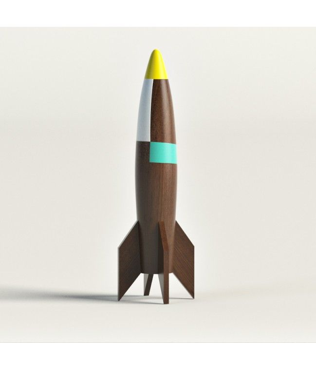 WOODEN ROCKET SHIP -  High quality 3d model of wooden rocket ship. Prepared to use in realtime engines. The models are made with much attention to details. They have reasonable amount of polygons and accurate grid.
