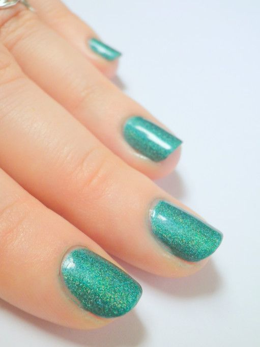 Astra Holo green swatch holographic nail polish