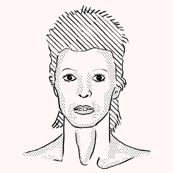 David Bowie, Unforgettable Face. Ungorgettable style. David Bowie, animated gif, illustration by Julia Kaiser. #animation #animatedgif #gifanimation #davidbowie #eyewear #eyewearfashion #eyewearportraitproject #faces #portrait #drawing #illustration #fashion #eyewear #glasses #shades #frames #vintage #blackandwhite #fashionillustration #studiojuliakaiser #eyewearvintage #ziggystardust #majortom # blackstar