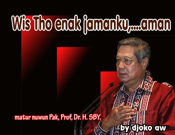 Terima Kasih Kepada Yang Mulia, Prof, Dr. H. Susilo Bambang Yudhoyono