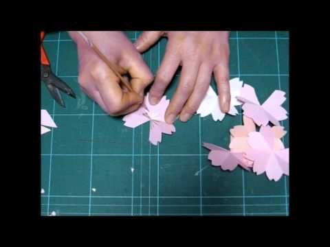 飛び出す桜のメッセージカード How to make a 3D SAKURA POP UP Greeting Card (制作/kimie gangi) - YouTube                                                                                                                                                                                 もっと見る