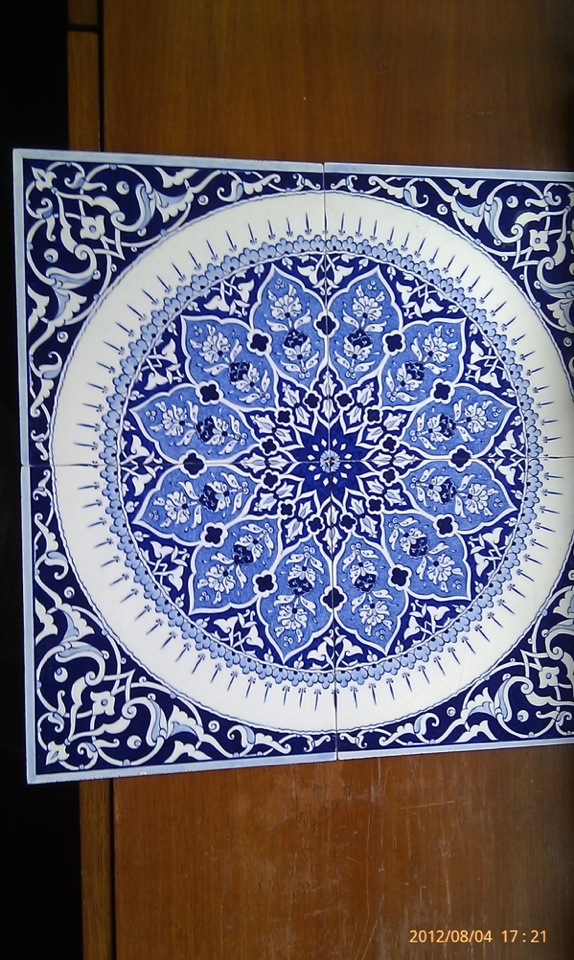 Hand painted tiles from Istanbul