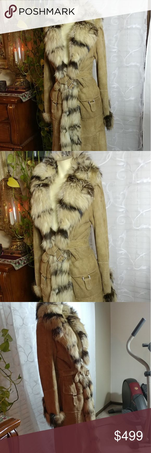 Designers fur coat BASETTI COLLECTION Made in Italy. In very good condition. Italy size 44 Desigual Jackets & Coats Trench Coats