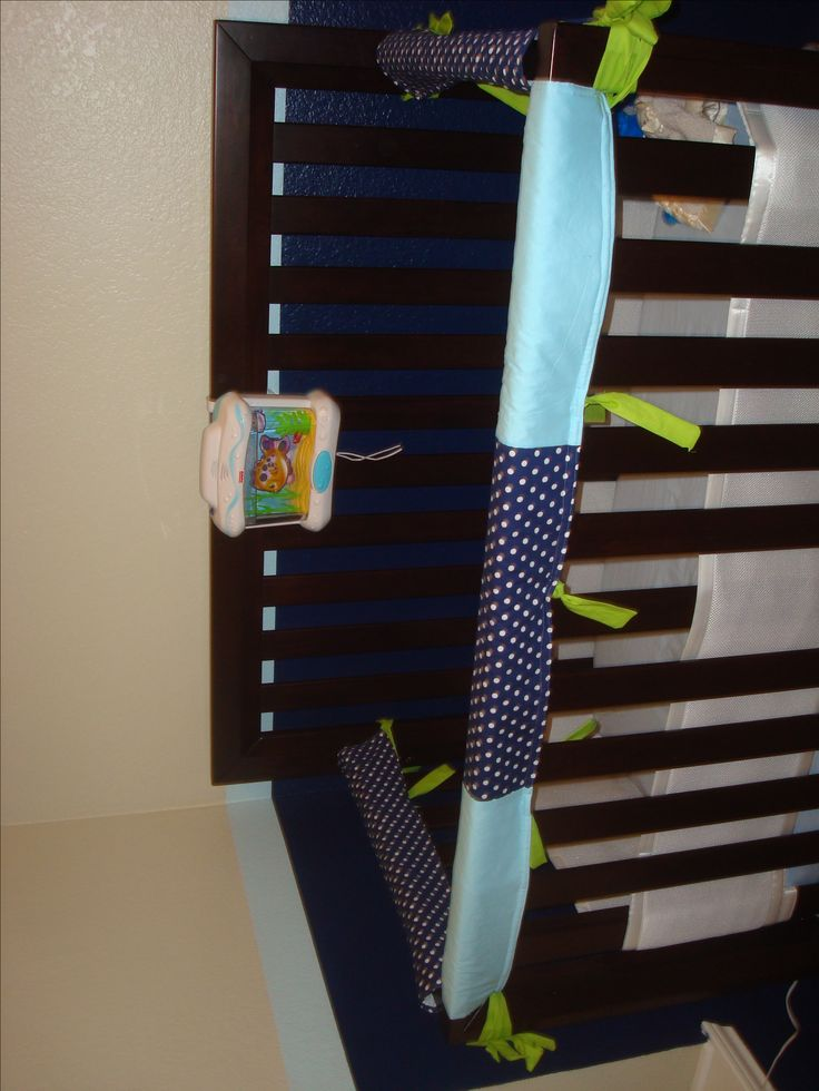 DIY Crib Rail Guard Tutorial--I had big plans to do this anyway since the plastic ones are tacky!