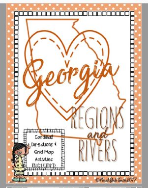 **FREEBIE** Students create their own map of Georgia's regions, with patterns to fill each region. Students will be asked to explain their choice using knowledge of GA features.  This FREE activity will also guide students through practicing basic map skills such as labeling a compass rose with cardinal and intermediate directions, and creating their own map key to correspond to their Georgia Regions Map.  GA 2nd Grade Social Studies Standards: SS2G1 a  SSGPS Map & Globe Skills Standards:1…