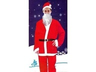 5 piece Deluxe Santa Dress Up  includes: hat, jacket, beard, belt & trousers