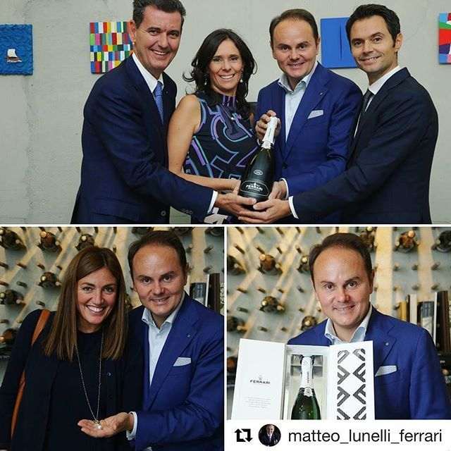 Thank you so much  @chiarainpentola ⭐️ #repostapp @matteo_lunelli_ferrari with @repostapp ・・・ Today at Larte #FerrariTrento presented to the press #PerléBianco, the newest label of the Perlé line. #Trentodoc #FerrariPerleBianco
