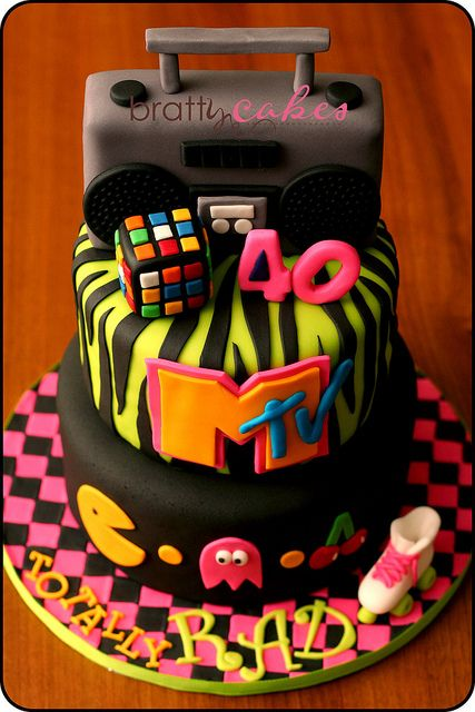 3 things i love, the lime green zebra print, theh boom box, and the cake plate.. love the bright colors for the cake to sit on.