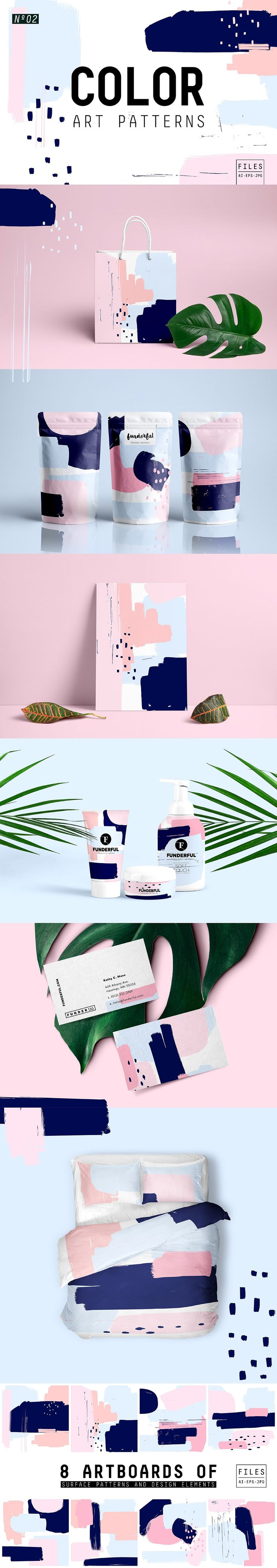 Beautiful brush pattern to use on any packaging design