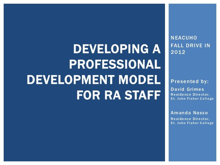 Developing a Professional Development Model for RA Staff