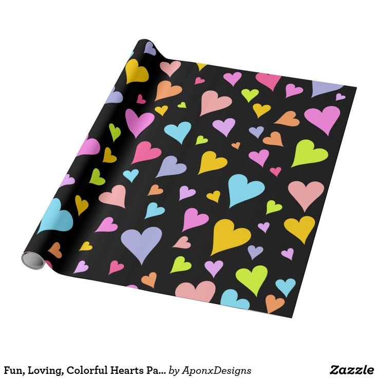 Fun, Loving, Colorful Hearts Pattern