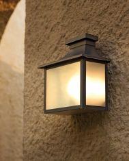 Lampione da parete in acciaio e alluminio : Collezione DOMUS