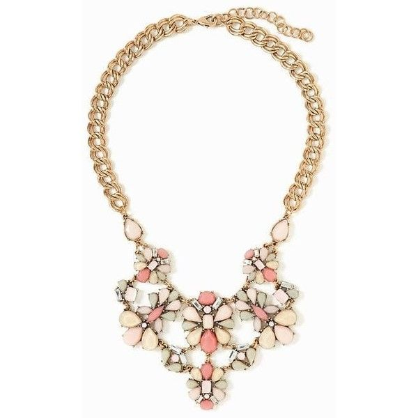 Old Navy Womens Floral Brooch Statement Necklace ($17) ❤ liked on Polyvore featuring jewelry, necklaces, pinky promise, bib statement necklace, chain necklace, multi colored statement necklace, floral necklace and long chain necklace