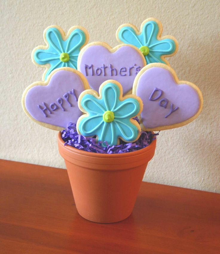 Mothers Day Bouquet - Lemon No fail sugar cookies with Royal icing