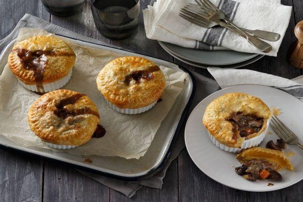 Mushroom & lentil pot pies