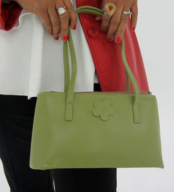Gemstone Leather Like Green Shoulder Bag OP 40