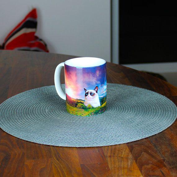 Hey, I found this really awesome Etsy listing at https://www.etsy.com/listing/166931233/grumpy-cat-in-woodlands-mug-funny-mug