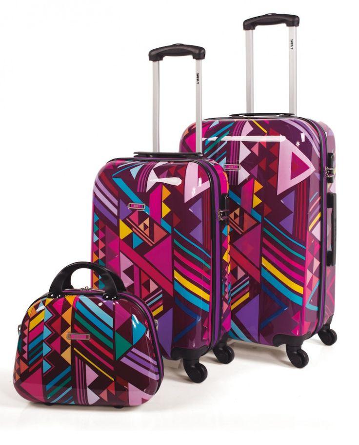 Juego de maletas rígidas de Skpa-t con dibujos geométricos