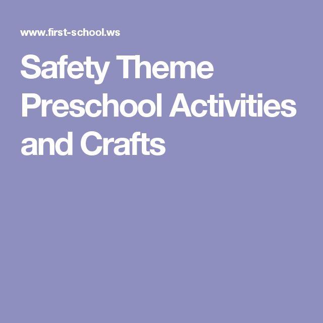 Safety Theme Preschool Activities