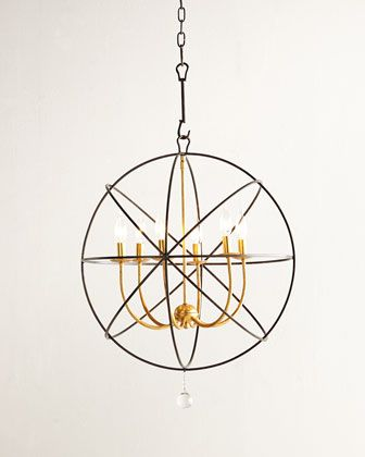 Gold Orbit Chandelier by Crystorama at Horchow.