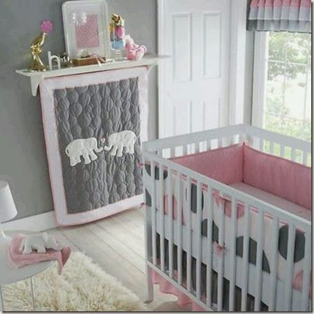 szary pokój dla dziewczynki