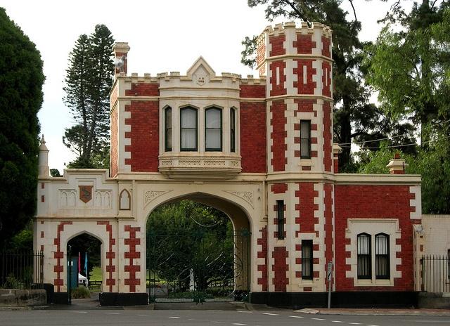 gatehouse to Parramatta Park at George Street was built in 1885 and designed by Gordon McKinnon