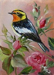 Art: Spring Warbler by Artist Paulie Rollins