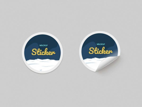 Free Mockup Round Paper Stickers Commercial Use Fonts Graphics Freebies Free Mockup Sticker Paper Mockup