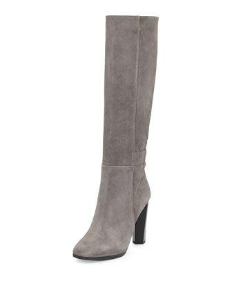 Diane von Furstenberg Pagri Suede Over-the-Knee Boot, Gray :: Cusp