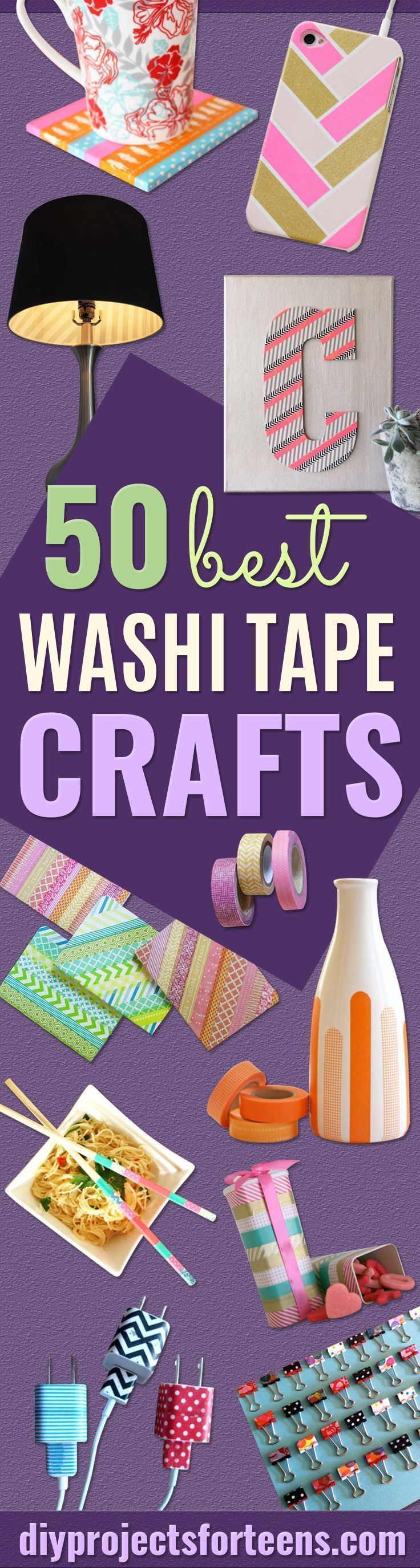 Washi Tape Crafts -  DIY Projects Made With Washi Tape - Wall Art, Frames, Cards, Pencils, Room Decor and DIY Gifts, Back To School Supplies - Creative, Fun Craft Ideas for Teens, Tweens and Teenagers - Step by Step Tutorials and Instructions http://diyprojectsforteens.com/washi-tape-ideas #diycraftsforteenstomake #ArtAndCraftStepByStep
