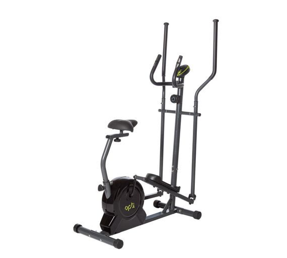 Buy Opti Magnetic 2 in 1 Cross Trainer and  Exercise Bike at Argos.co.uk, visit Argos.co.uk to shop online for Cross trainers and elliptical trainers, Fitness equipment, Sports and leisure