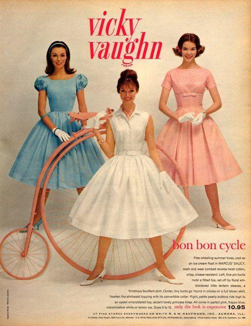 Vicky Vaughn fashion ad, 1960.