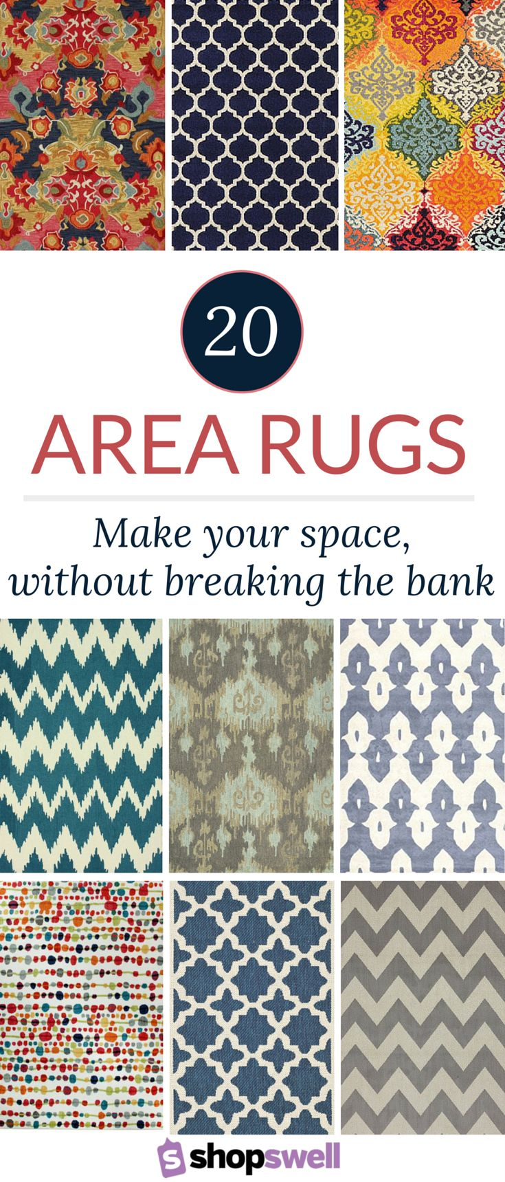 An area rug can make or break your living space. Thankfully, since these gorgeous rugs are priced under $160 they won't break the bank.