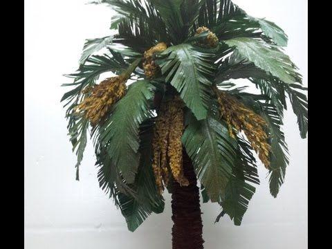 COMO HACER UNA PALMERA PRIMERA PARTE - HOW TO MAKE A PALM TREE FOR BELÉN - YouTube