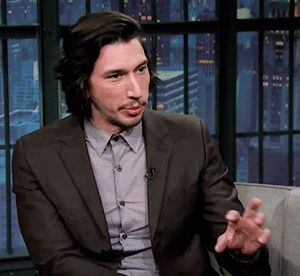 Adam Driver on Late Night with Seth Meyers, Aug 2017