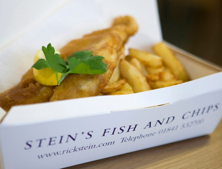 Rick Steins fish & chips, Padstow, Cornwall. GLUTEN FREE! Love this takeaway place!