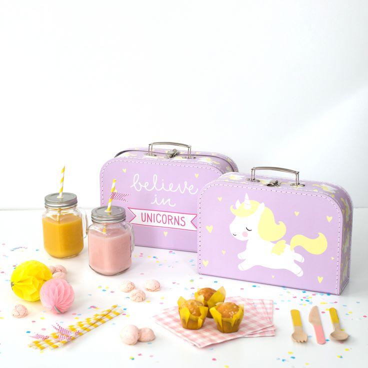 koriste matkalaukku, säilytyslaatikot, yksisarvinen, lastenhuone | Leikisti-verkkokauppa