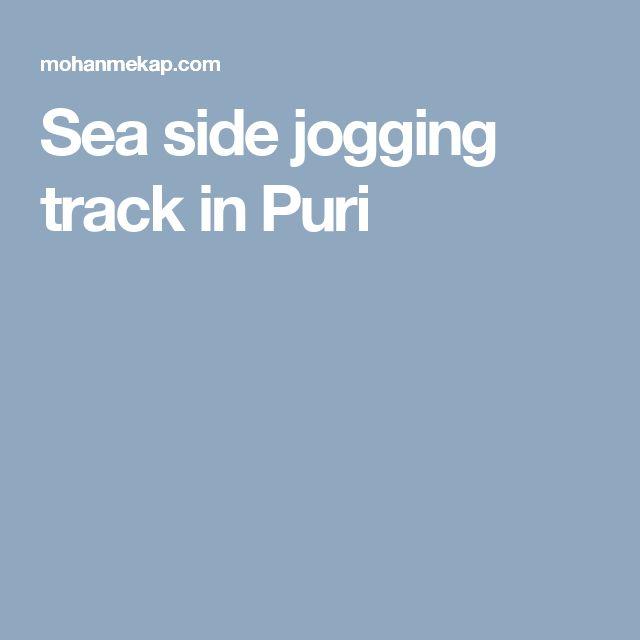 Sea side jogging track in Puri