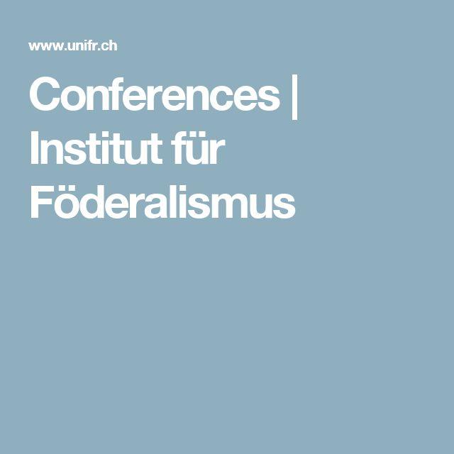 Conferences | Institut für Föderalismus