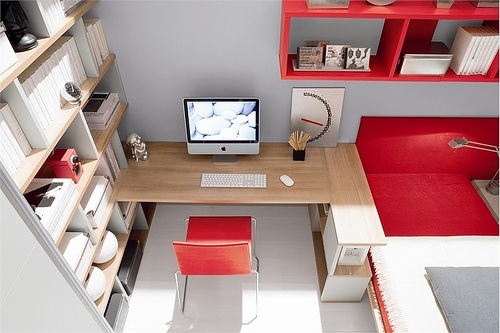 #Red and White Teen Room Design...