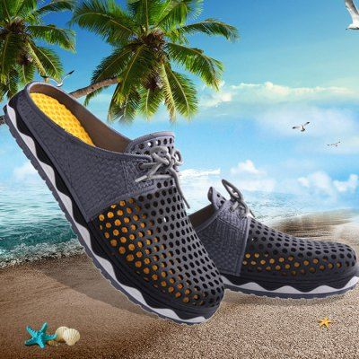 Summer Men Breathable Air-mesh Leisure Shoes Beach Sandals-13.45 and Free Shipping  GearBest.com