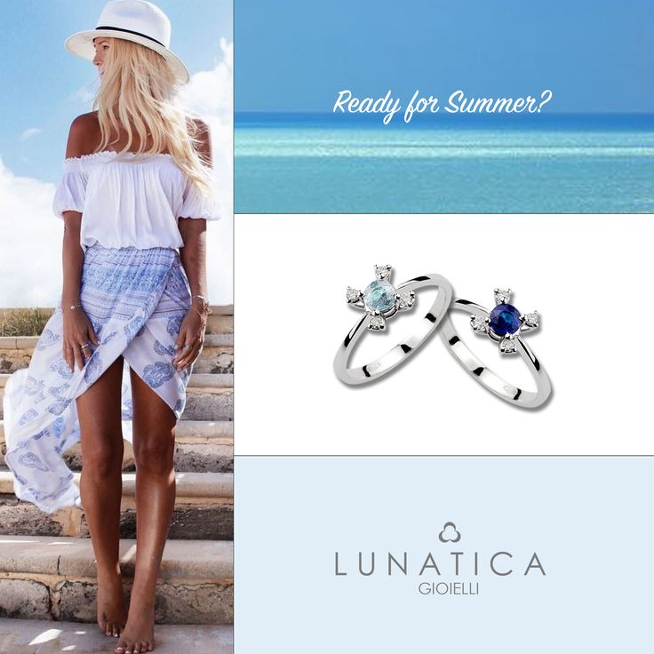#ready #summer #lunatica #lunaticagioielli #roma #gioielli #jewelry #handmade #handcraft #colours #blue #five #collection #white #gold #diamonds #sapphire #acquamarine #shadow #madeinitaly #fashion #mood