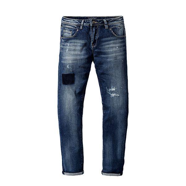 Men Jeans New Arrival Famous Brand Long Pants Men Hole Slim Fit Denim Trousers High Quality