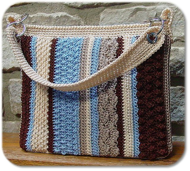 Crochet Purse pattern - love the variety of stitches in this and the color scheme (maybe also for a baby blanket)