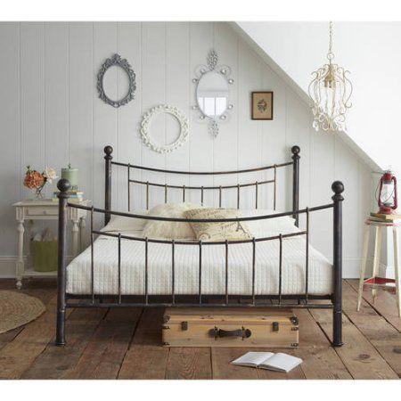 $190 Premier Abbey Metal Platform Bed Frame, Multiple Sizes - Walmart.com